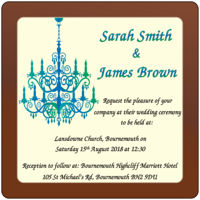 Personalised Printed Wedding Chocolate Square Plaque
