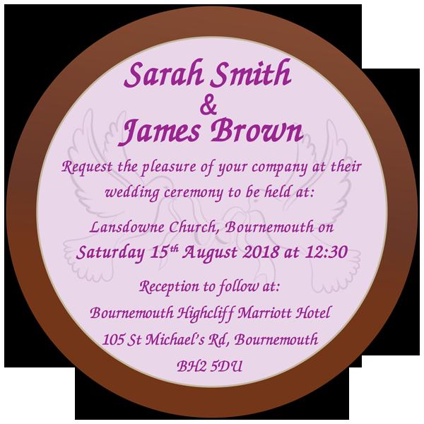Personalised Printed Wedding Chocolate Round Plaque