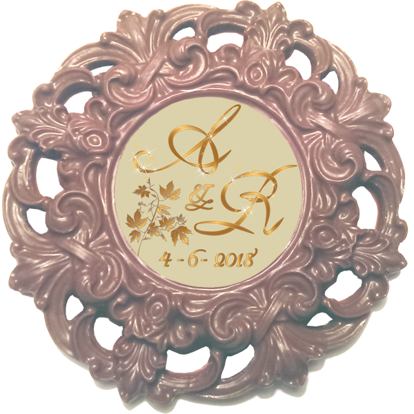 Personalised Printed Wedding Chocolate Frame MAYFAIR