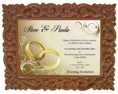 Personalised Printed Wedding Chocolate Frame VICTORIAN