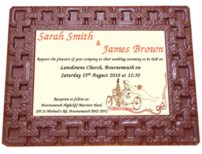 Personalised Printed Wedding Chocolate Frame  SQUARES
