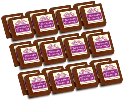 Personalised Printed Party Chocolates  (Box of 24)