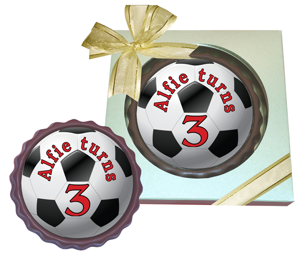 Personalised printed Party Chocolate Round Mini Frame