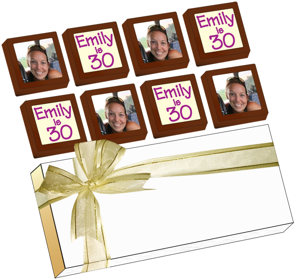Personalised Printed Party Chocolates (Box of 8)