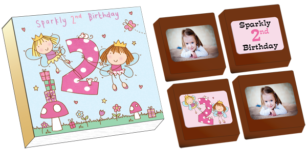 Personalised Printed Party Chocolates (Box of 4)