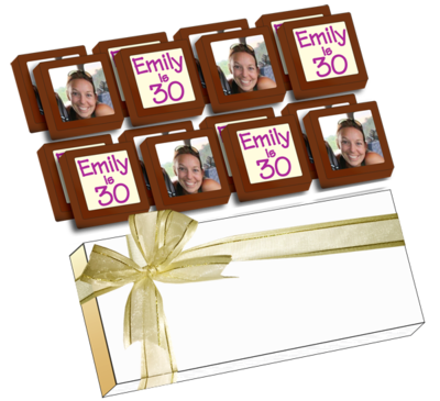 Personalised Printed Party Chocolates (Box of 16)