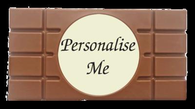 Personalised Printed Belgian Chocolate Bar (Round Image)