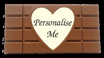 Personalised Printed Belgian Chocolate Bar (Heart Image)
