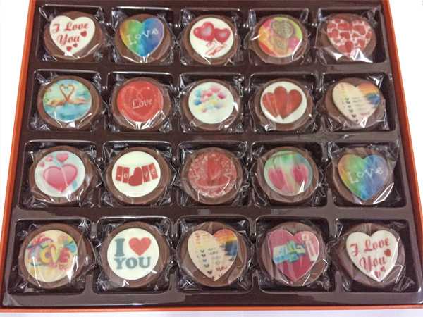 Luxury box of 20 Personalised Belgian Chocolate Covered Oreos