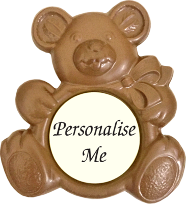 Personalised Printed Belgian Chocolate Teddy