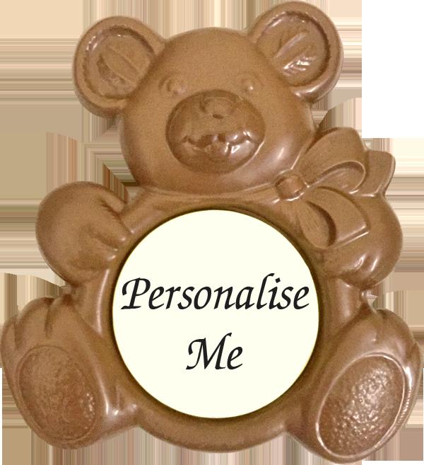 Personalised Printed Belgian Chocolate Teddy