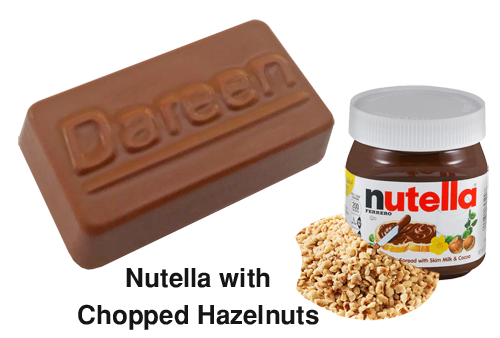 Dareen Hand Made Belgian Chocolate with Nutella with Chopped Hazelnuts