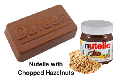 Dareen Hand Made Belgian Chocolate with Nutella with Chopped Hazelnuts​