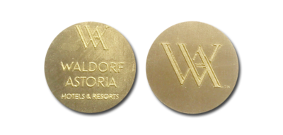 40mm ROUND Personalised Engraved Gold Chocolate Cake Toppers / Discs