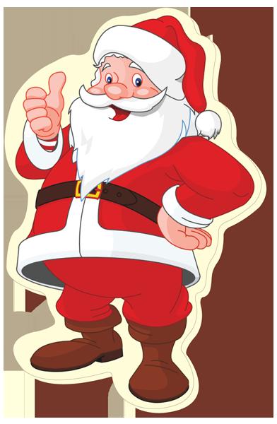 Printed Belgian Chocolate Santa