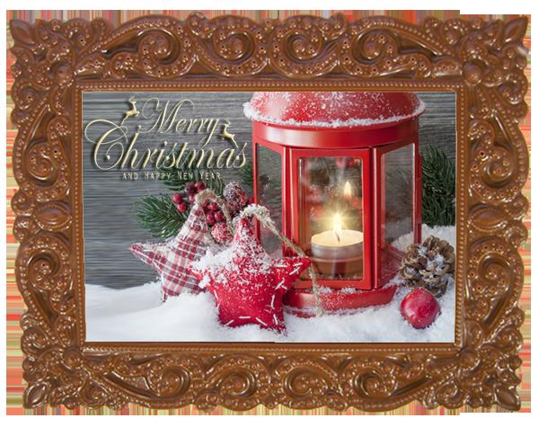 Printed Belgian Chocolate Christmas Card VICTORIAN