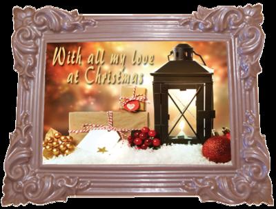 Printed Belgian Chocolate Christmas Card TRADITIONAL