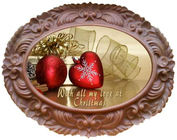 Printed Belgian Chocolate Christmas Card OVAL