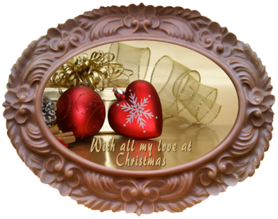 Printed Belgian Chocolate Christmas Card OVAL
