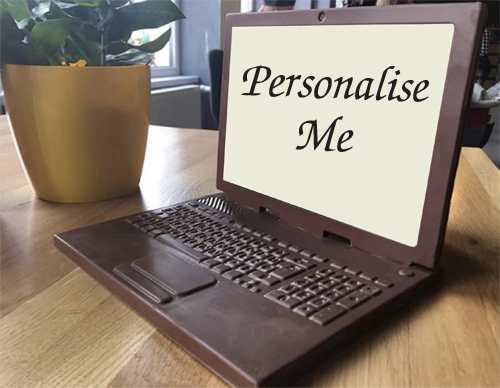Personalised Printed Belgian Chocolate Laptop