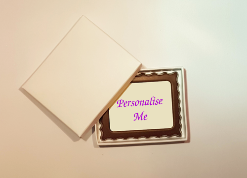 Personalised Printed Belgian Chocolate Rectangular Mini Frame