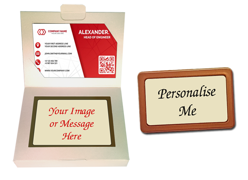 Personalised Printed Belgian Chocolate Business card