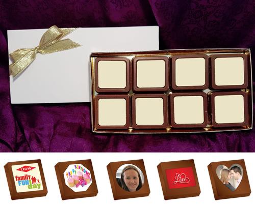 Box of 8 Personalised Printed Chocolates