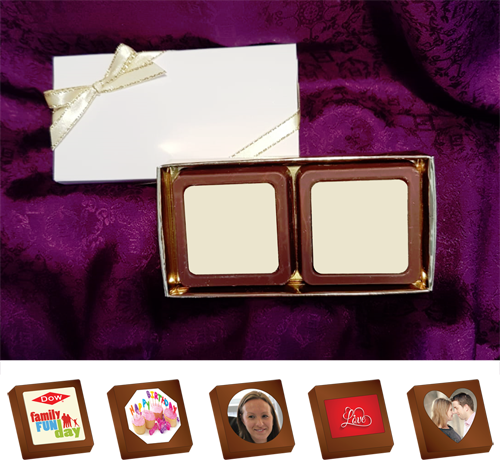 Box of 2 Personalised Printed Chocolates