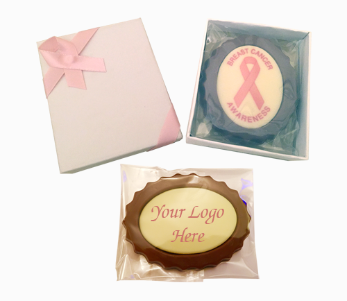 Personalised Printed Promotional Chocolate Oval Mini Frame