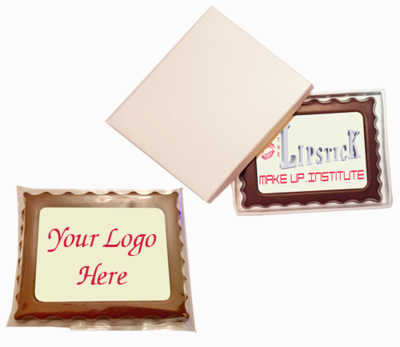 Personalised Printed Promotional Chocolate Rectangular Mini Frame