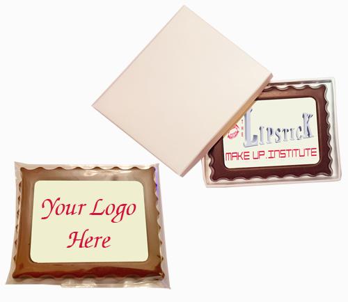 Personalised Printed Promotional Chocolate Rectangular Mini Frame
