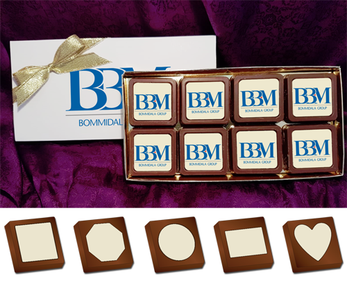 Personalised Printed Promotional Chocolates (Box of 8)