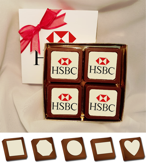 Personalised Printed Promotional Chocolates (Box of 4)
