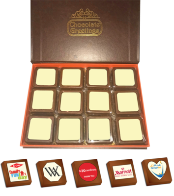 Personalised Printed Promotional Chocolates (Box of 24)