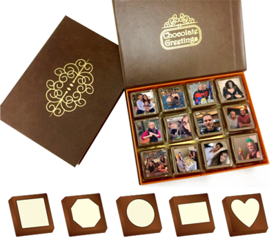 Box of 24 Personalised Printed Chocolates