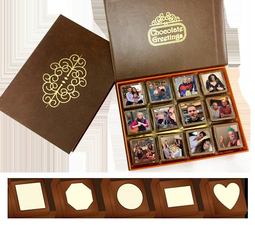 Box of 24 Personalised Printed Chocolates