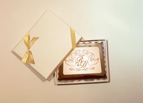 Personalised Printed Wedding Chocolate Mini Frame (Rectangular)