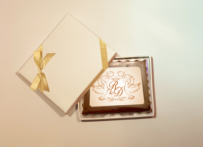 Personalised Printed Wedding Chocolate Mini Frame (Rectangular)