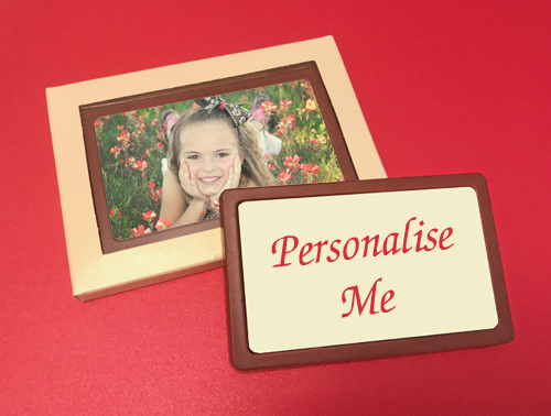 Personalised Printed Belgian Chocolate Message Card
