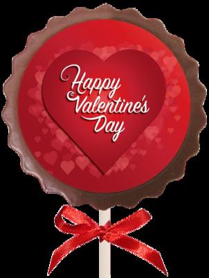 Printed Valentine's Day Chocolate Flower Lollipop
