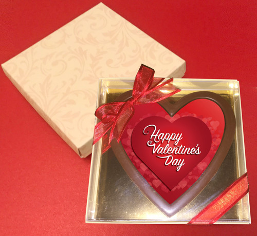 Printed Valentine's Day Chocolate Heart Card/Plaque