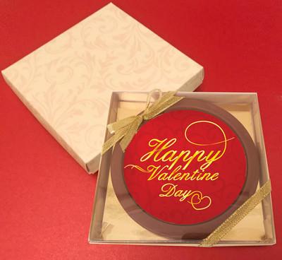 Printed Valentine's Day Chocolate Round Card/Plaque