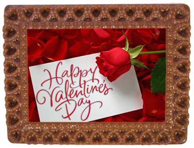 Printed Valentine's Day Chocolate Frame HEARTS
