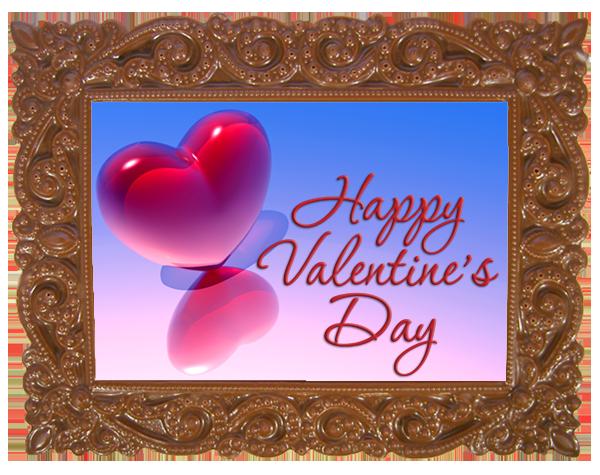 Printed Valentine's Day Chocolate Frame VICTORIAN
