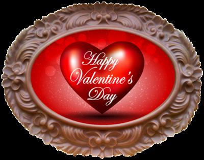 Printed Valentine's Day Chocolate Frame OVAL