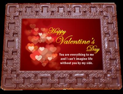 Printed Valentine's Day Chocolate Frame SQUARES