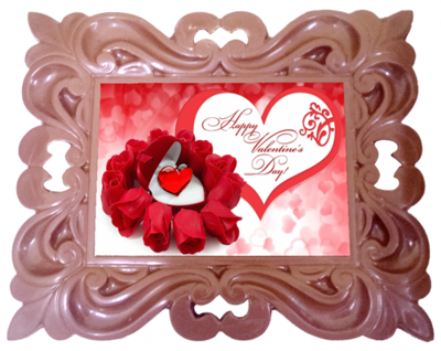 Printed Valentine's Day Chocolate Frame CLASSIC