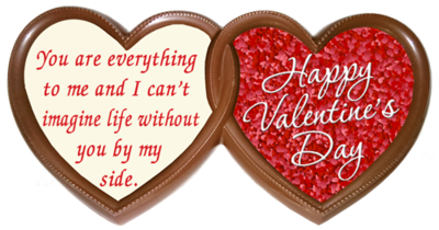 Printed Valentine's Day Chocolate TWIN HEARTS Frame