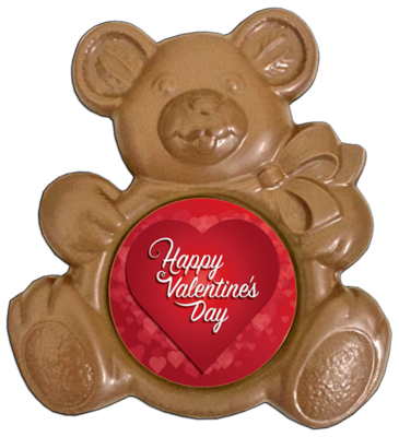 Printed Valentine's Day Chocolate Teddy Bear