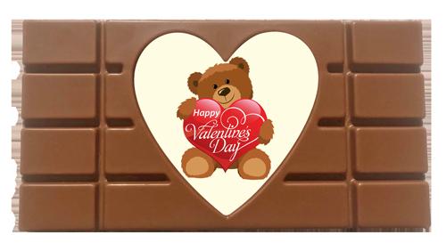 Printed Valentine's Day Chocolate Heart Bar